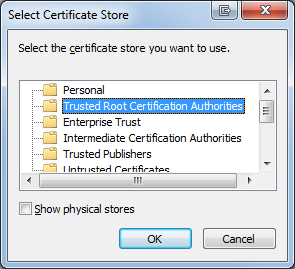 Manual installation SOP of GE Root Certificates on a server or